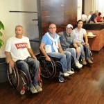 Gli amici dell'Associazione Paraplegici di Roma e del Lazio