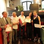 Maurizio Arrigoni ( mantelline ), Andrea Saturnino ( consegna maglie ) e Chiara Rapaccioni ( segreteria iscizioni )